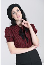 Hell Bunny Hell Bunny Striped Humbug Blouse Red