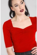 Hell Bunny SPECIAL ORDER Hell Bunny Philippa Jersey Top Red