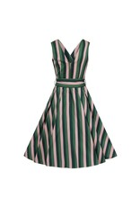 Collectif Collectif Patricia Palm Stripe Swing Dress