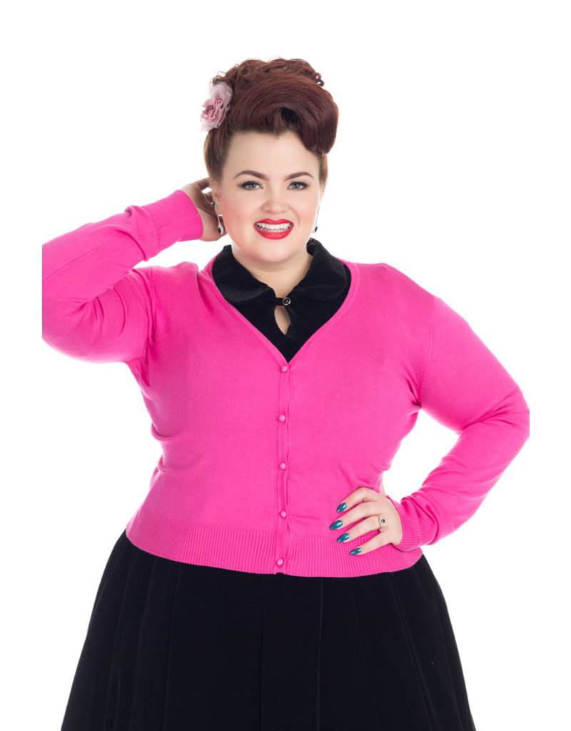 Hearts and Roses Hearts & Roses Cardigan Hot Pink