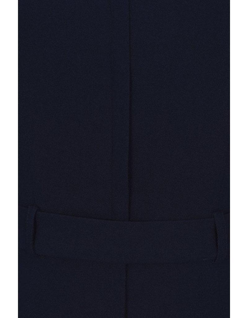 Collectif Collectif 1940s Meadow Pencil Dress Navy
