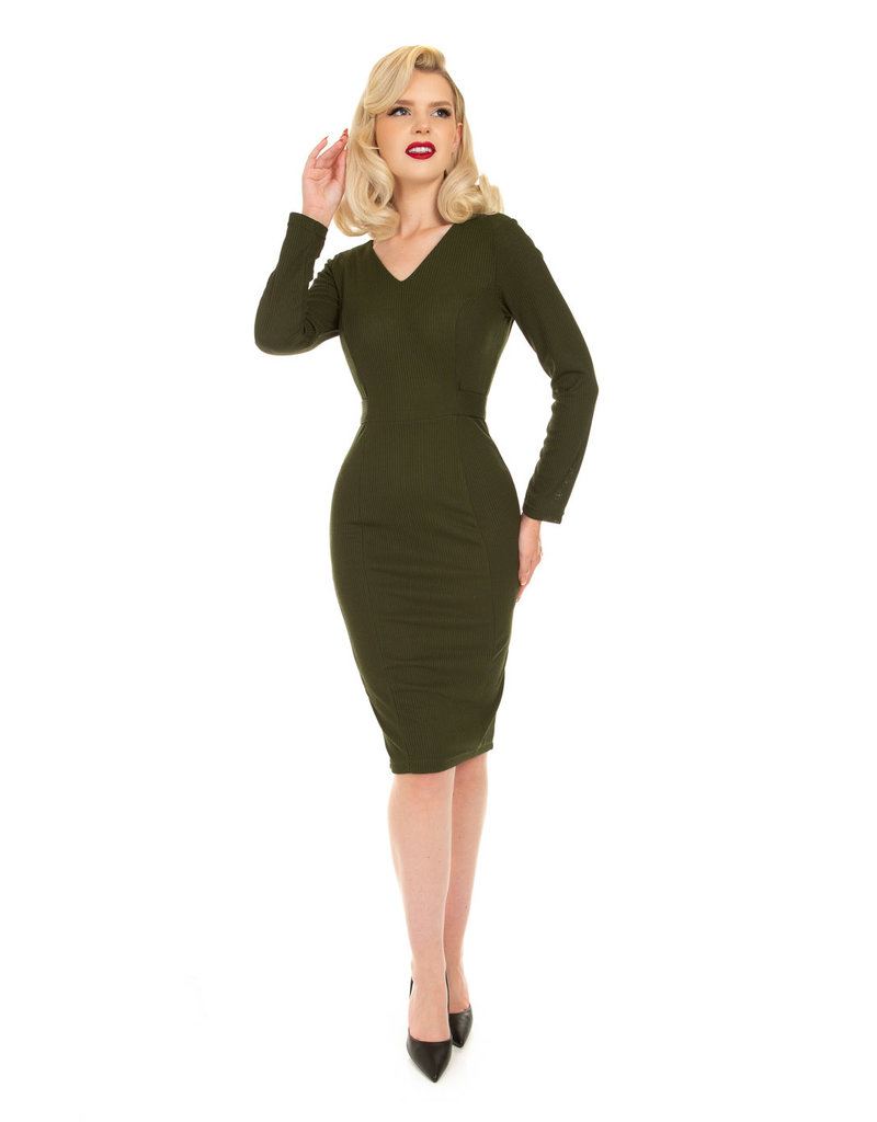 Hearts and Roses Hearts & Roses Cassia Green Wiggle Dress