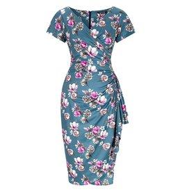 Lady V London Lady Vintage 1950s Elsie Sketchy Floral Dress