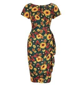 Lady V London Lady Vintage 1950s Elsie Autumn Sunflower Dress