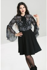 Hell Bunny Hell Bunny Lost Whispers Chiffon Blouse