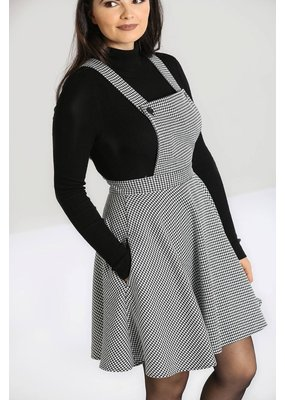 Hell Bunny SPECIAL ORDER Hell Bunny Harvey Houndstooth Pinafore Dress