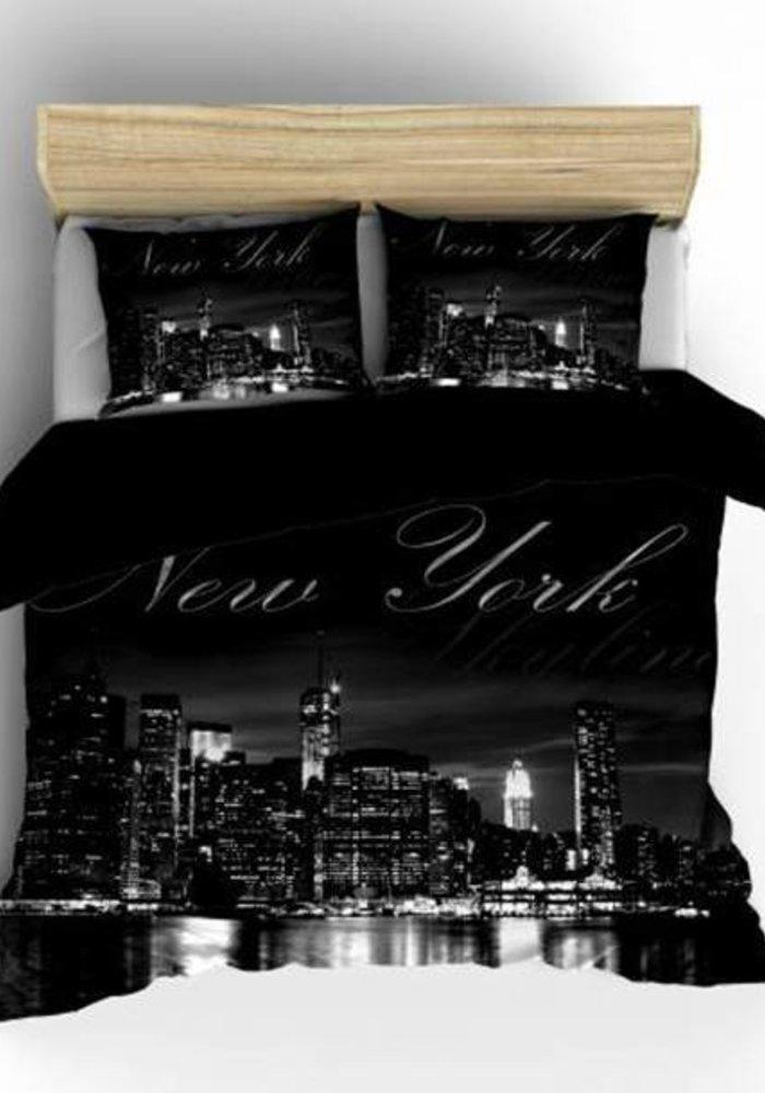 Duvet Cover New York Skyline Zwart