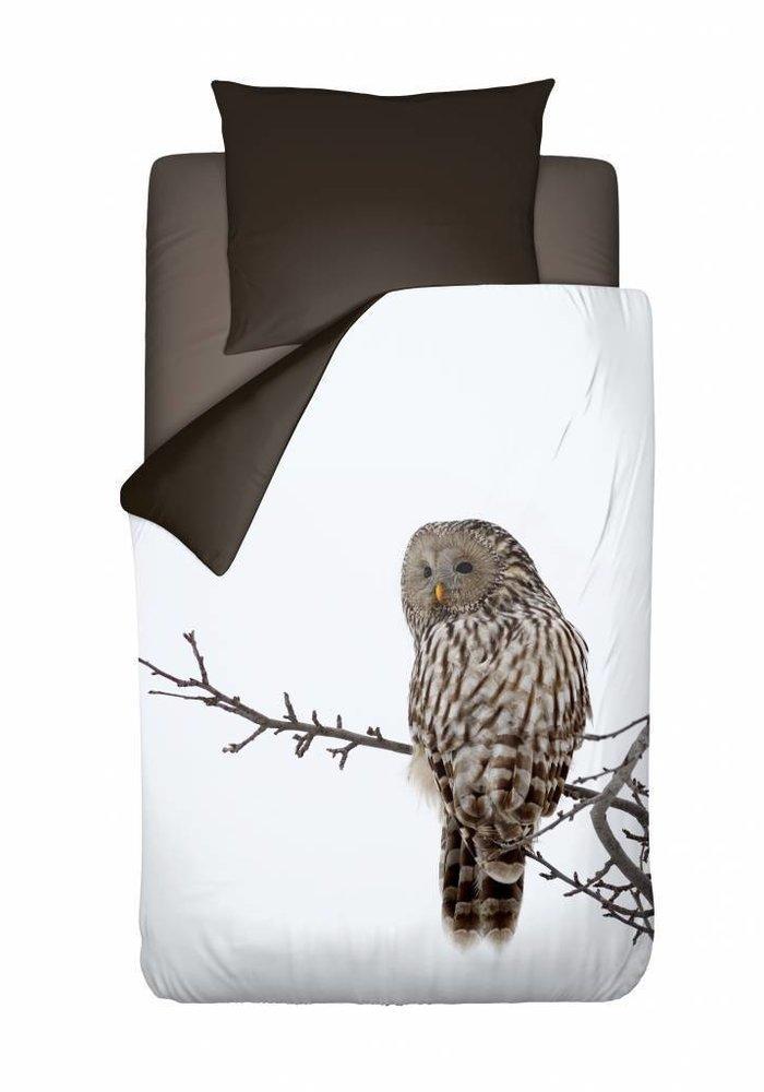 Duvet Cover Owl White Bruin