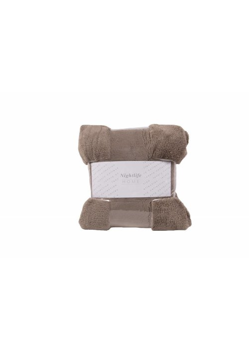 Pl Ambianzz Fluffy Plaid Taupe