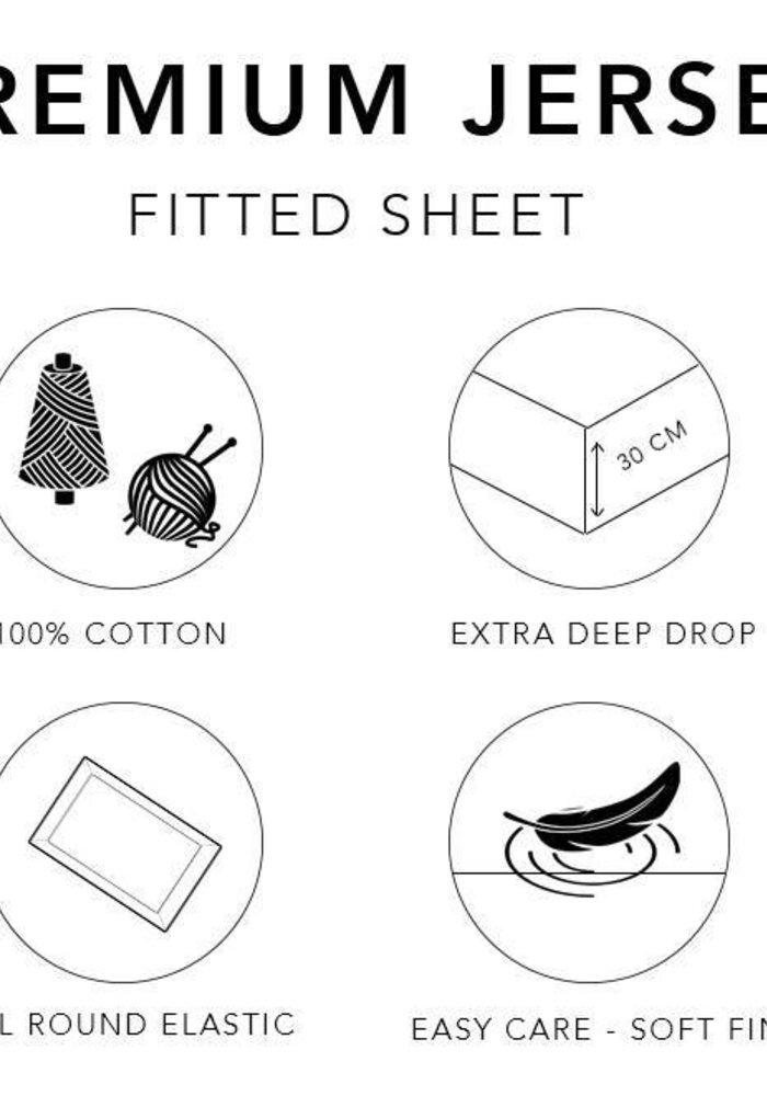 Fitted Sheet Jersey Mattress Red 30 cm Corner Drop