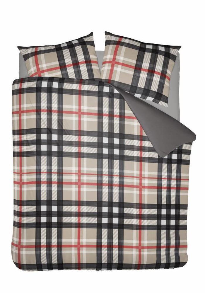 Duvet Cover Barry Red Flanel