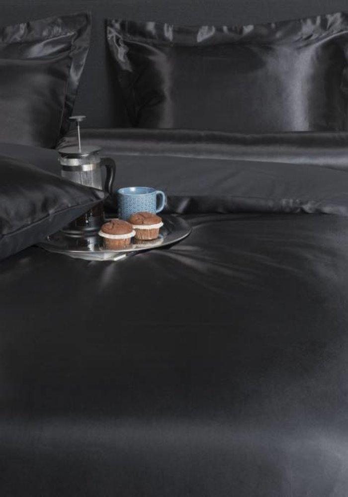 Duvet Cover Satijn Uni Zwart