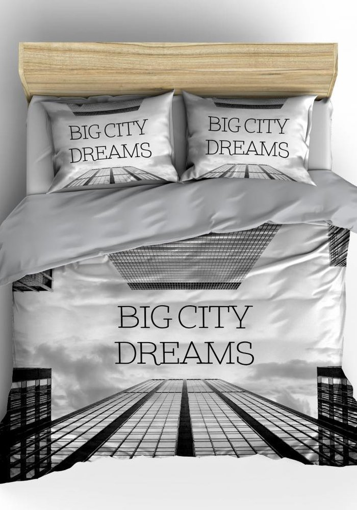 Dekbedovertrek Big City Dreams Grijs
