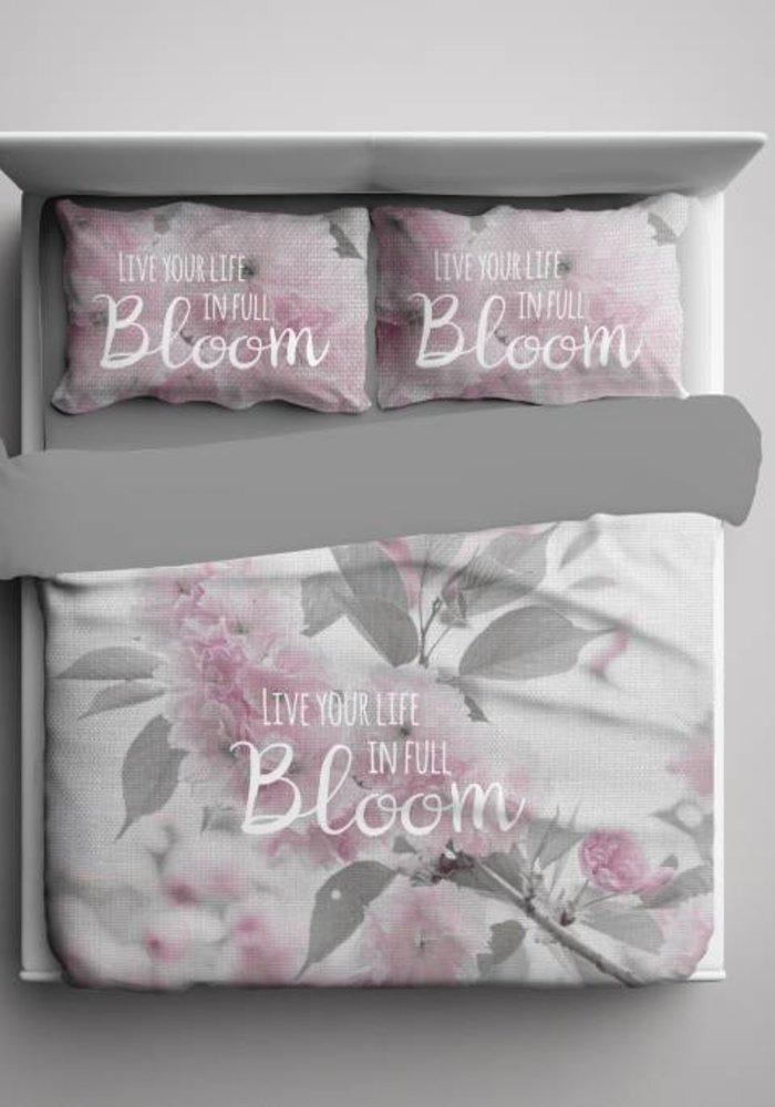 Dekbedovertrek Life In Bloom Grijs