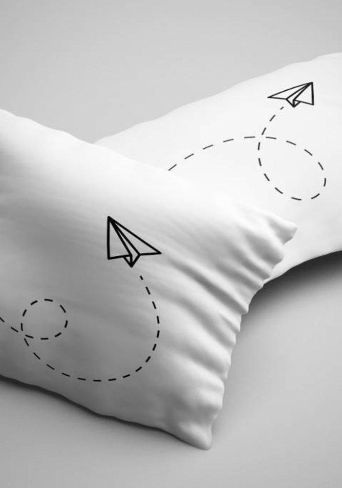 Kussensloop Paper Plane (Per Paar)