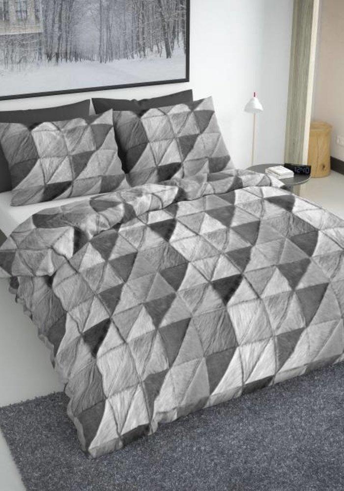 Duvet Cover Fur Mozaik Grijs