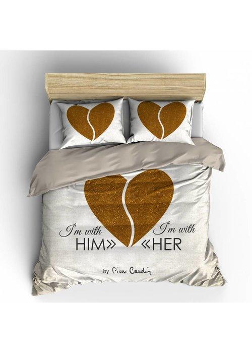 Duvet Cover Him - Her Gold