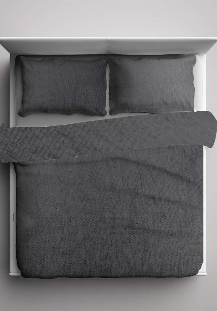 Duvet Cover Pierre Cardin Washed Linnen Antraciet