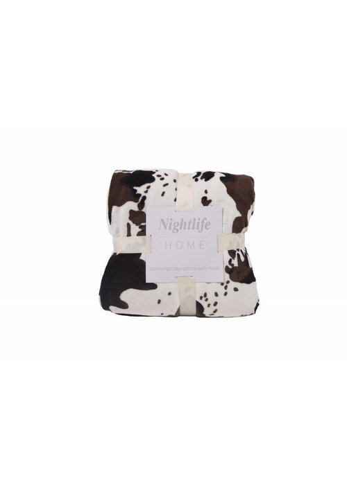 Pl Cow Printed Coral Fleece Blanket