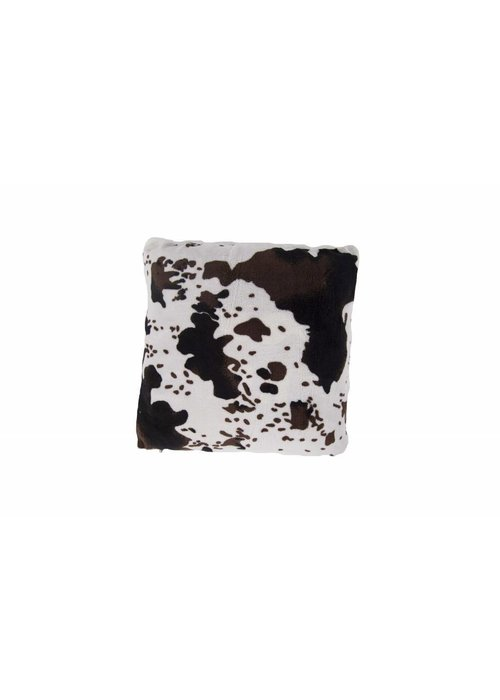 Pl Cow Printed Coral Fleece Cushion Cover