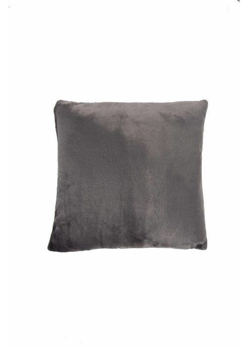 Pl Plain Dyed Flanel Cushion Cover Antra