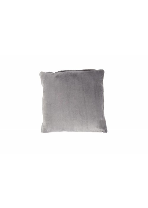 PL PLAIN DYED FLANNEL CUSHION COVER GREY