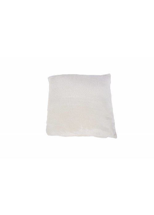 Pl Plain Dyed Flanel Cushion Cover Ecru