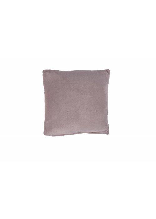 Pl Plain Dyed Flanel Cushion Cover Roze