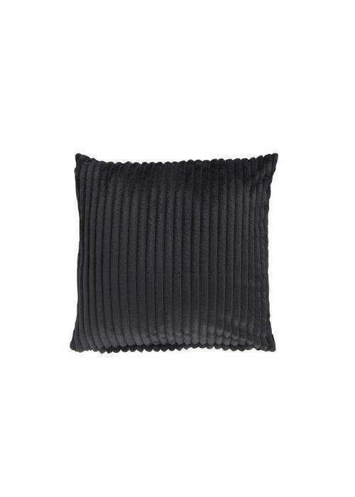 Pl Rib Flanel Cushion Cover Donker Grijs