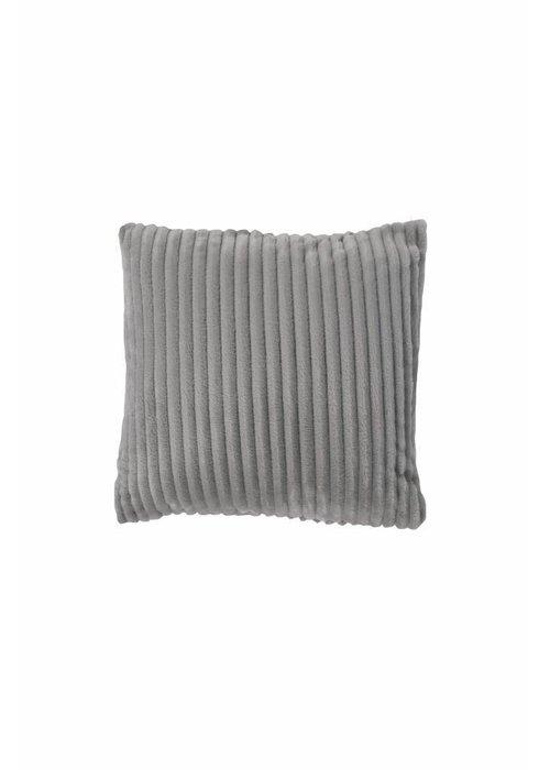 Pl Rib Flanel Cushion Cover Licht Grijs