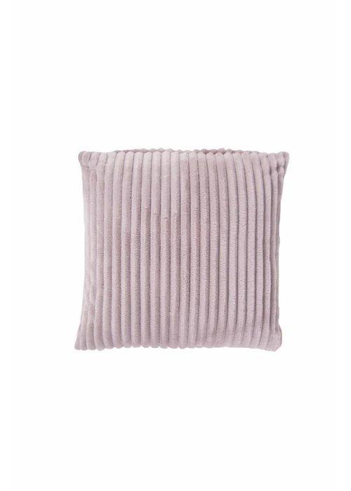 Pl Rib Flanel Cushion Cover Roze