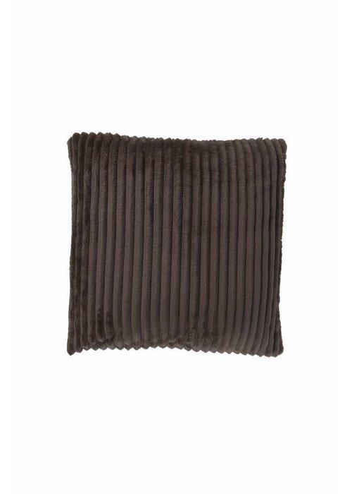 Pl Rib Flanel Cushion Cover Taupe