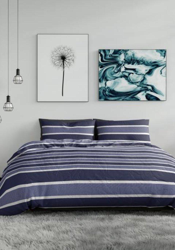 Duvet Cover Classic Stripe Blauw Flanel