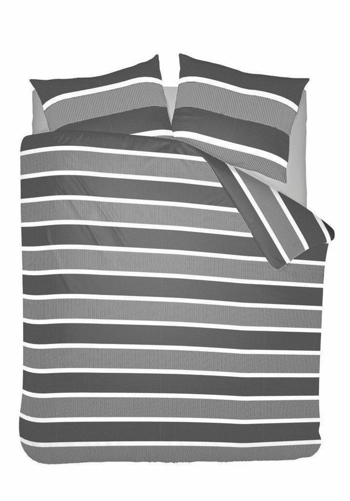 Duvet Cover Classic Stripe Grijs Flanel