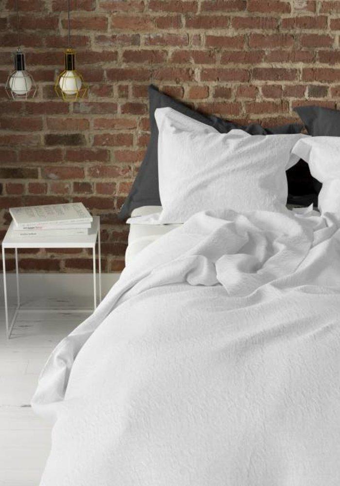 Duvet Cover Pierre Cardin Stone Washed Uni White
