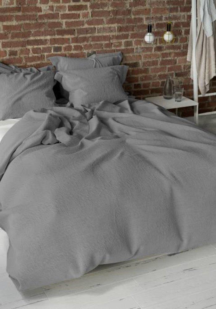Duvet Cover Pierre Cardin Stone Washed Uni Grijs