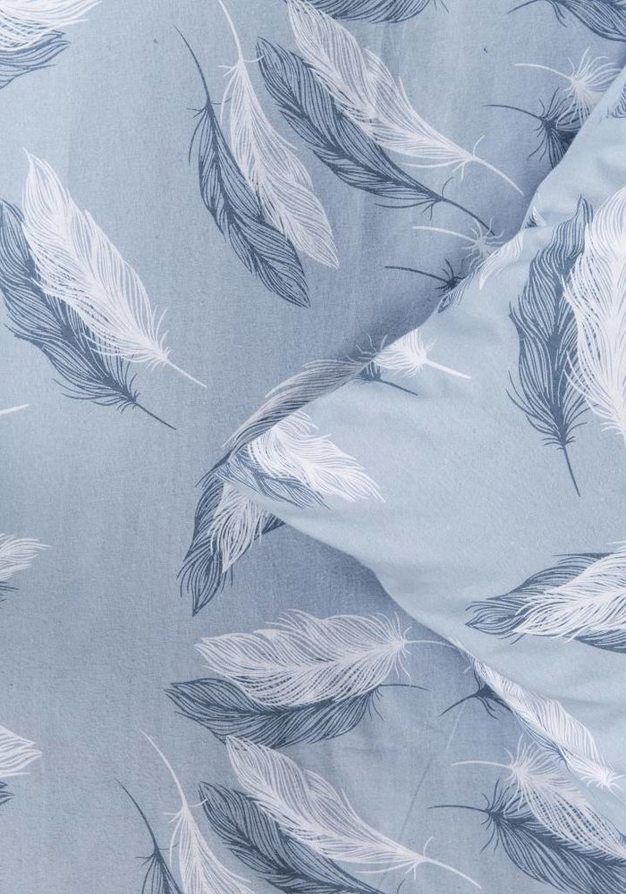 Dekbedovertrek Snow Feathers Blauw Flanel