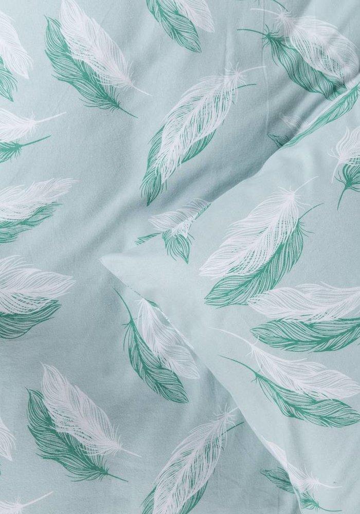 Dekbedovertrek Snow Feathers Groen Flanel