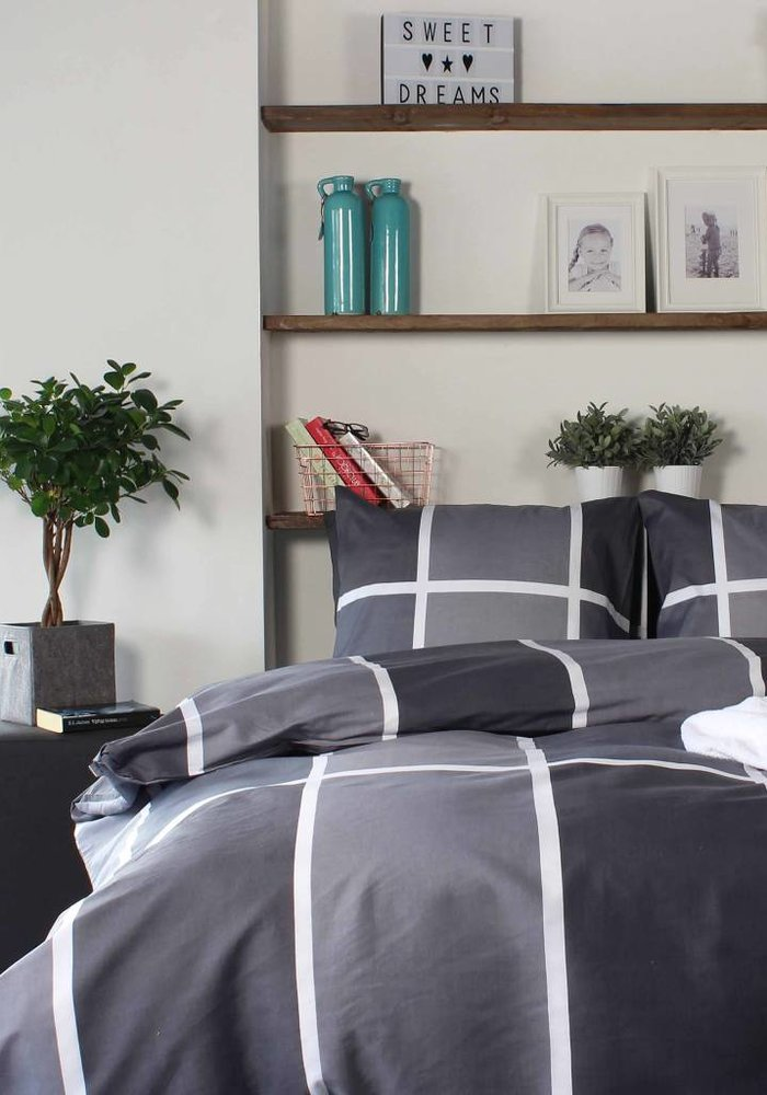 Duvet Cover Shades of Grey Flanel