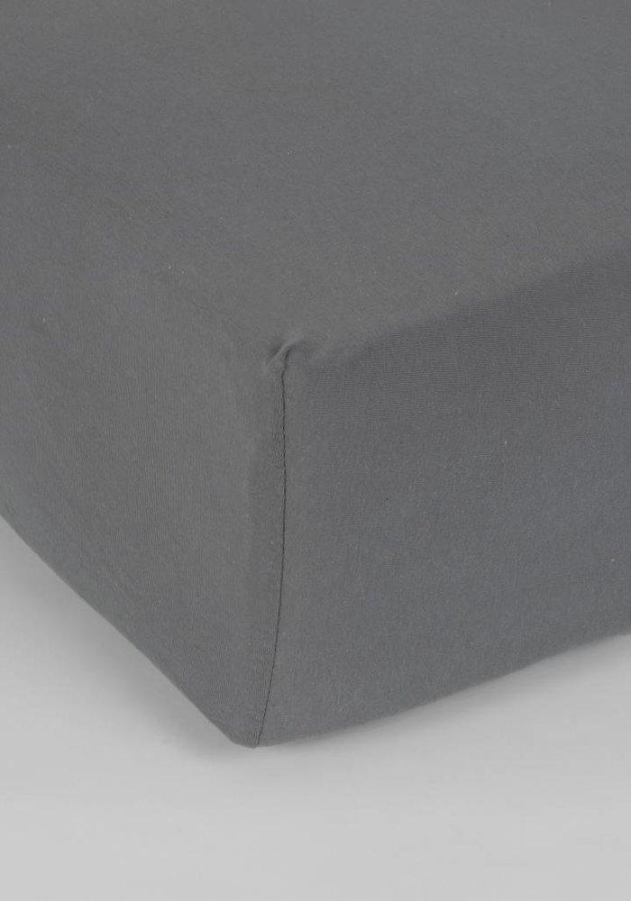 Hoeslaken Jersey Matras Antraciet 35 cm Hoekhoogte