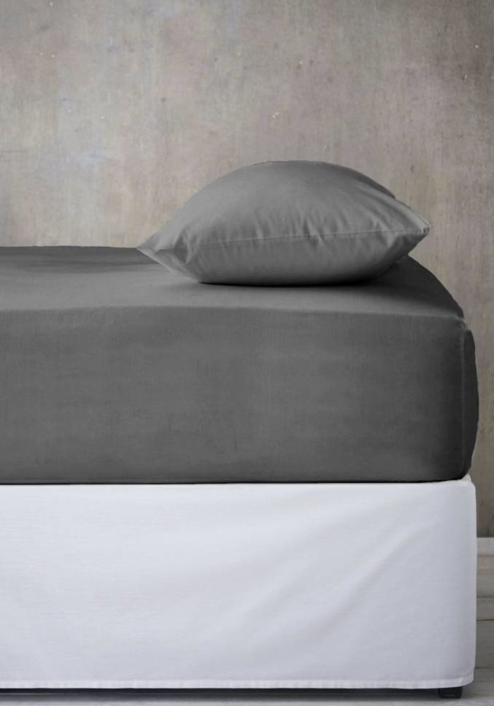 Fitted Sheet Jersey Mattress Antracite 35 cm Corner Drop