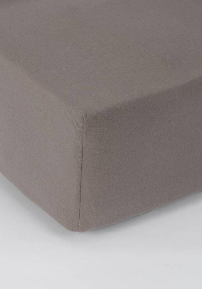 Hoeslaken Jersey Matras Taupe 35 cm Hoekhoogte