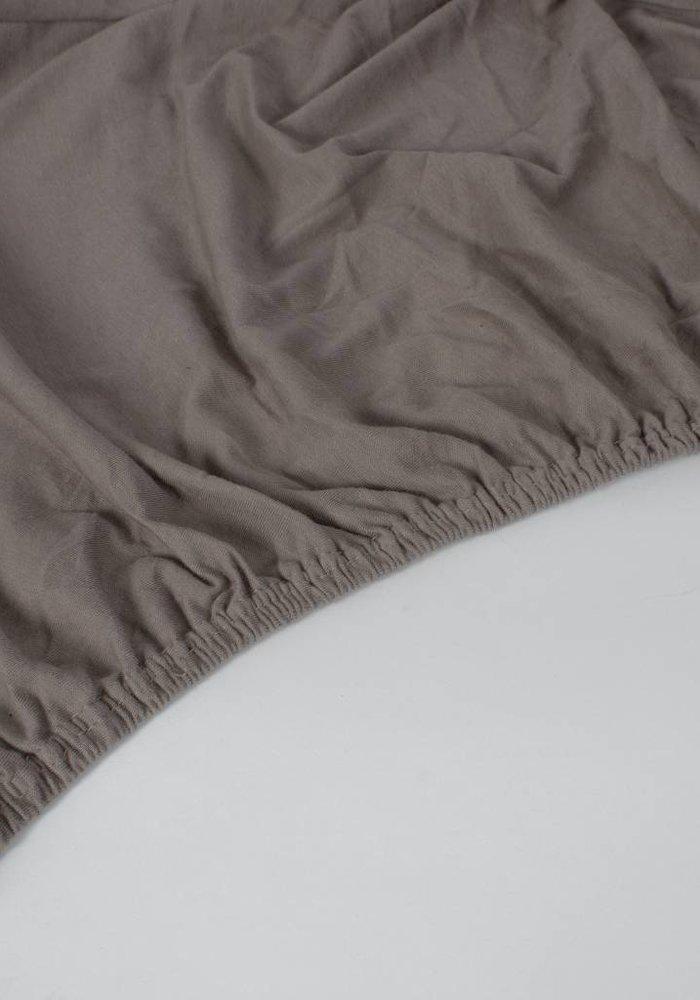 Fitted Sheet Jersey Mattress Taupe 35 cm Corner Drop