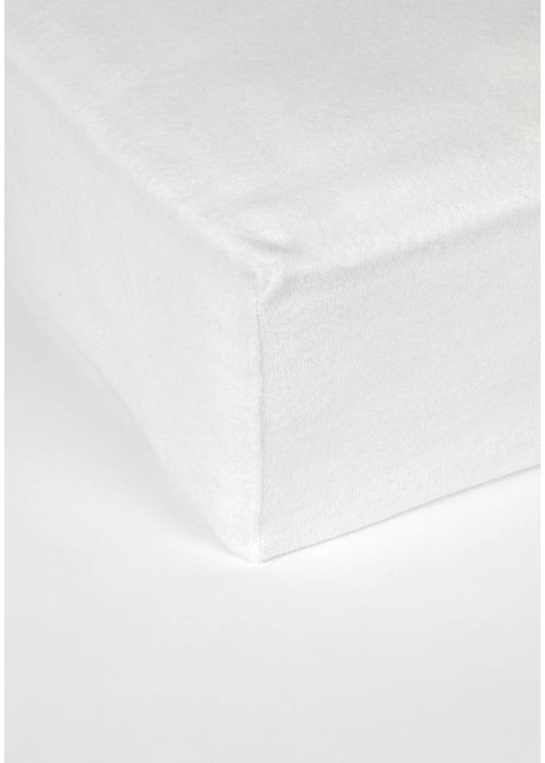 MP PC MOLTON FITTED SHEET WHITE