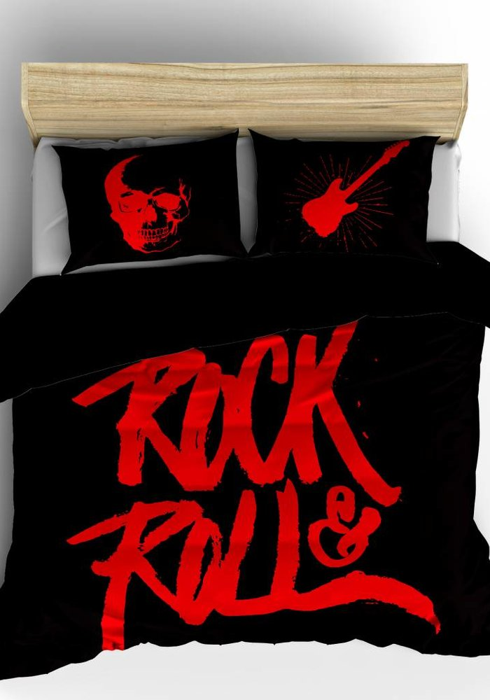 Dekbedovertrek Rock N Roll Rood