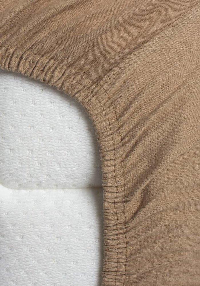 Hoeslaken Jersey Matras Camel 35 cm Hoekhoogte