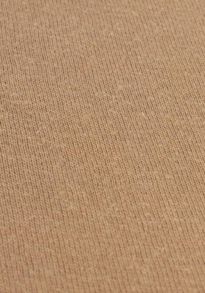 Fitted Sheet Jersey Mattress Camel 35 cm Corner Drop