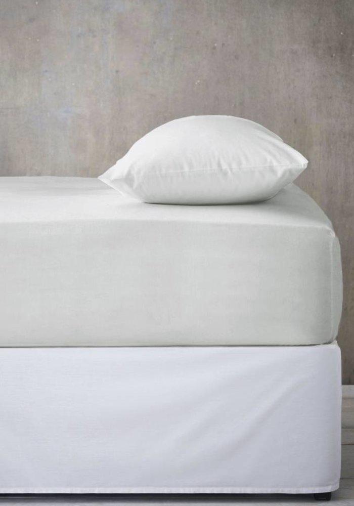 Fitted Sheet Jersey Mattress Off White 35 cm Corner Drop