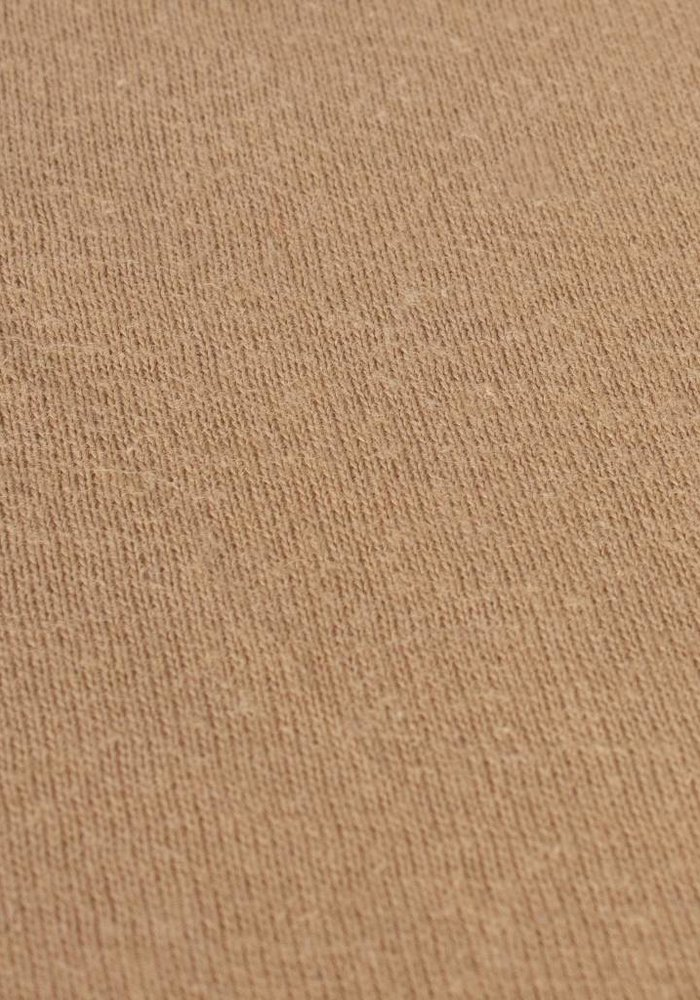 Hoeslaken Jersey Topper Camel 15 cm Hoekhoogte