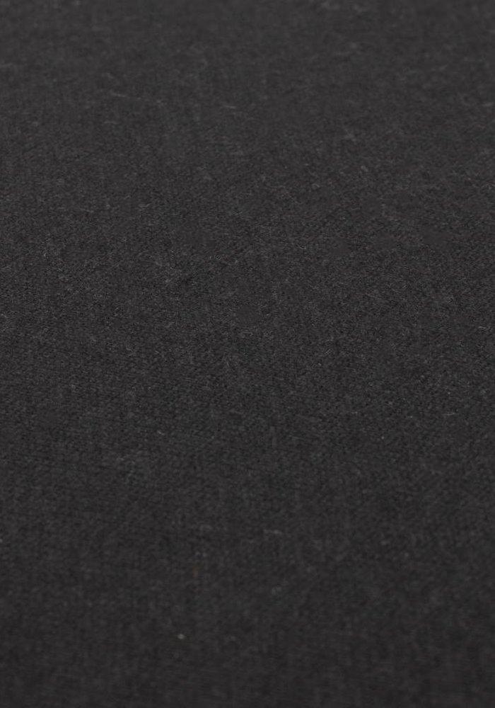 Fitted Sheet Double Jersey Interlock Topper Black 17 cm Corner Drop
